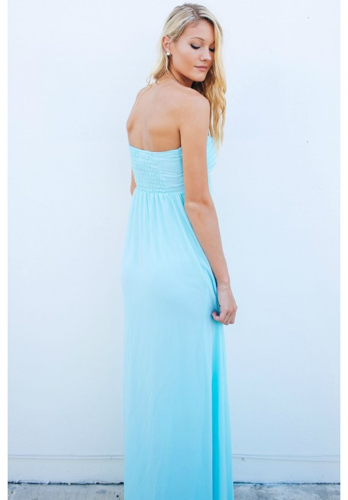 Grecian Sky Blue Dress