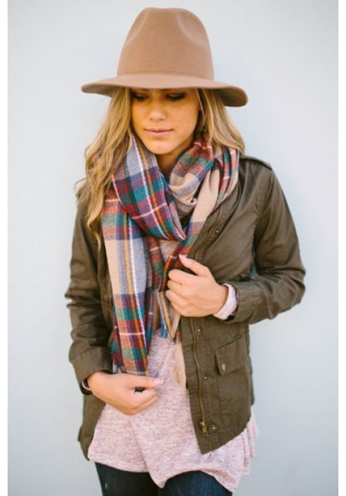 Zoe Plaid Scarf