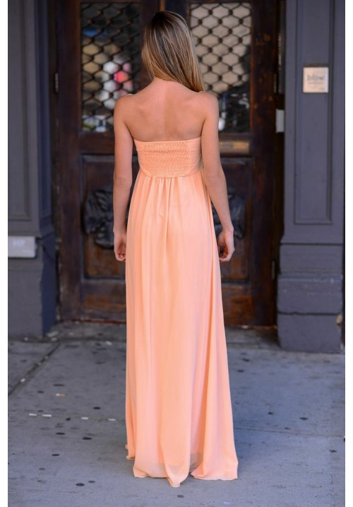 Grecian Coral/Peach Dress